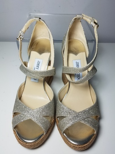 Jimmy Choo platinum ice glitter Sandals Image 6