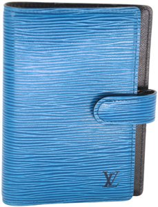 Louis Vuitton Epi Leather Mini Small Ring Agenda Planner Notebook