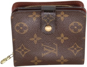 Louis Vuitton Monogram Coated Canvas Zipped French Compact Wallet