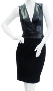 KAUFMANFRANCO Sleeveless Belted Leather Dress