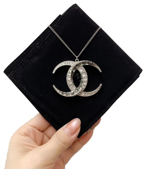 Preload https://img-static.tradesy.com/item/25855839/chanel-silver-baguette-crystal-moon-cc-necklace-0-1-540-540.jpg