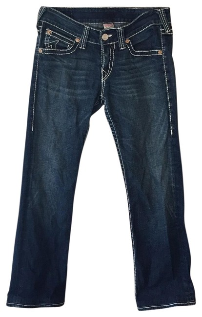 Item - Dark Blue Rinse White Threading Billy Big T Boot Cut Jeans Size 10 (M, 31)