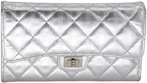 Chanel Quilted Distressed Leather Mademoiselle Reissue Wallet
