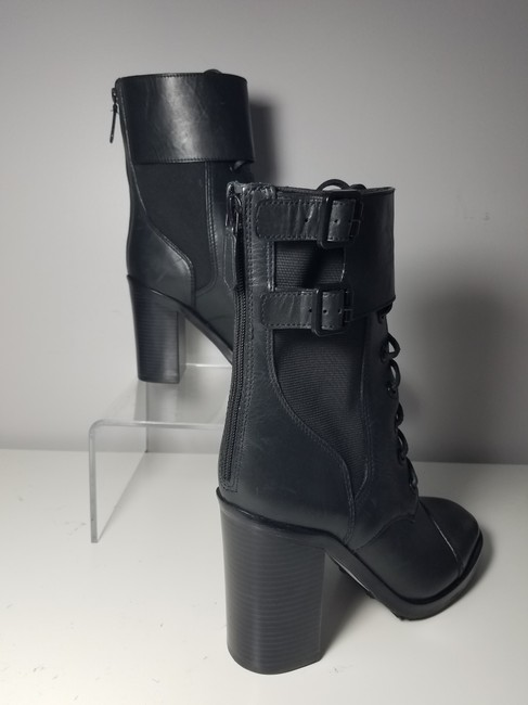 Tory Burch Black Brooke Zip Leather Laces Combat Boots/Booties Size US 9.5 Regular (M, B) Tory Burch Black Brooke Zip Leather Laces Combat Boots/Booties Size US 9.5 Regular (M, B) Image 3