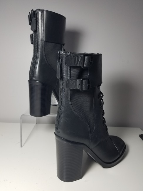 Tory Burch Black Brooke Zip Leather Laces Combat Boots/Booties Size US 9.5 Regular (M, B) Tory Burch Black Brooke Zip Leather Laces Combat Boots/Booties Size US 9.5 Regular (M, B) Image 5