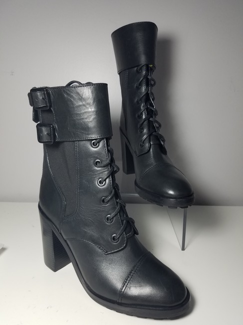 Tory Burch Black Brooke Zip Leather Laces Combat Boots/Booties Size US 9.5 Regular (M, B) Tory Burch Black Brooke Zip Leather Laces Combat Boots/Booties Size US 9.5 Regular (M, B) Image 6