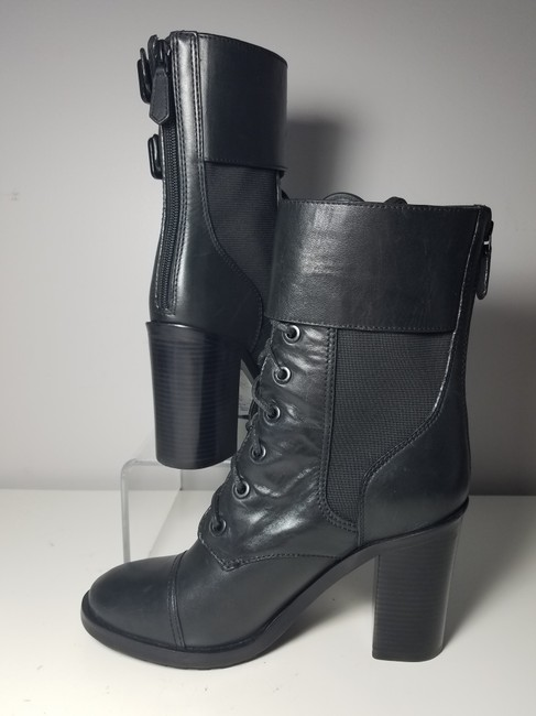 Tory Burch Black Brooke Zip Leather Laces Combat Boots/Booties Size US 9.5 Regular (M, B) Tory Burch Black Brooke Zip Leather Laces Combat Boots/Booties Size US 9.5 Regular (M, B) Image 8