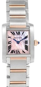 Cartier Cartier Tank Francaise Steel Rose Gold Mother of Pearl Watch W51027Q4