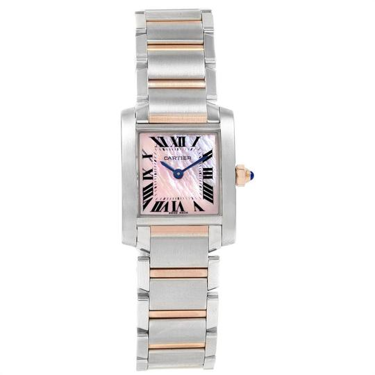 Cartier Cartier Tank Francaise Steel Rose Gold Mother of Pearl Watch W51027Q4 Image 1