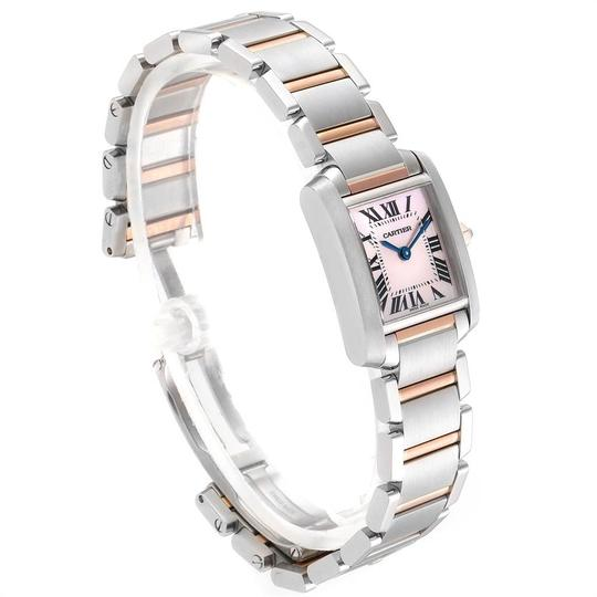 Cartier Cartier Tank Francaise Steel Rose Gold Mother of Pearl Watch W51027Q4 Image 2