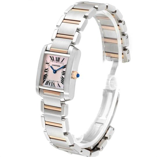 Cartier Cartier Tank Francaise Steel Rose Gold Mother of Pearl Watch W51027Q4 Image 3