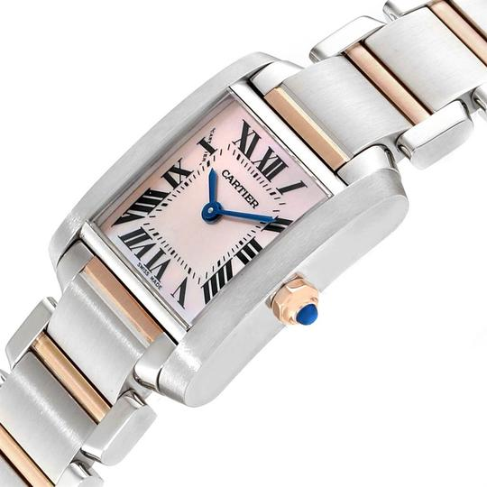 Cartier Cartier Tank Francaise Steel Rose Gold Mother of Pearl Watch W51027Q4 Image 4