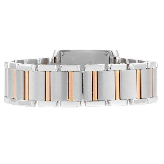 Cartier Cartier Tank Francaise Steel Rose Gold Mother of Pearl Watch W51027Q4 Image 6