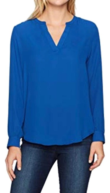 Preload https://img-static.tradesy.com/item/25856596/adrianna-papell-blue-blouse-size-10-m-0-1-650-650.jpg