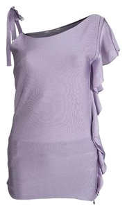Valentino Knit Detail Viscose Top Purple