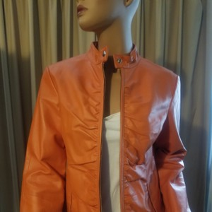 Wilsons Leather Beautiful light euro coral Leather Jacket
