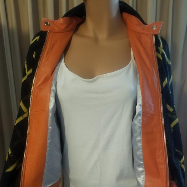 Wilsons Leather Beautiful light euro coral Leather Jacket Image 3