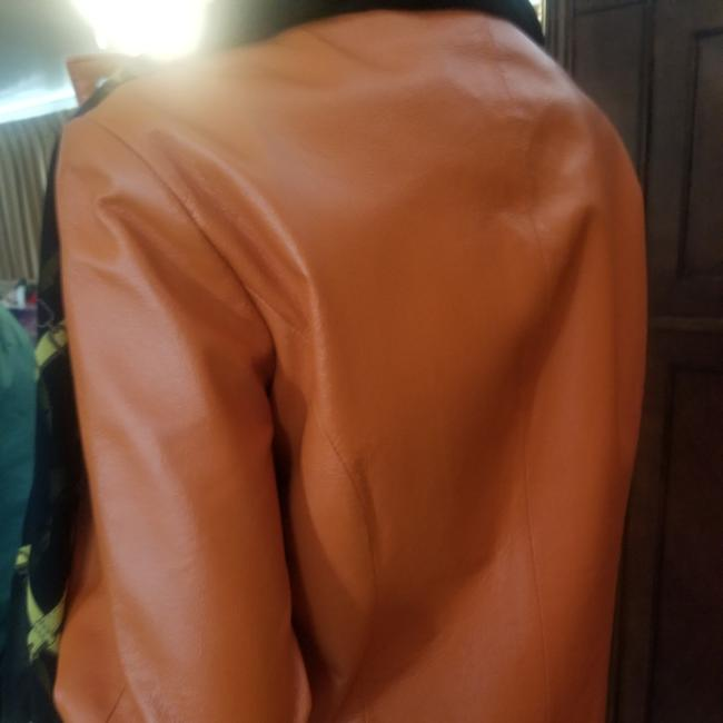 Wilsons Leather Beautiful light euro coral Leather Jacket Image 4
