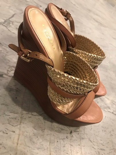 Coach Wedges Brown & Gold Wedges Image 1