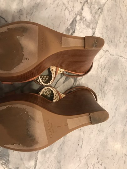Coach Wedges Brown & Gold Wedges Image 4