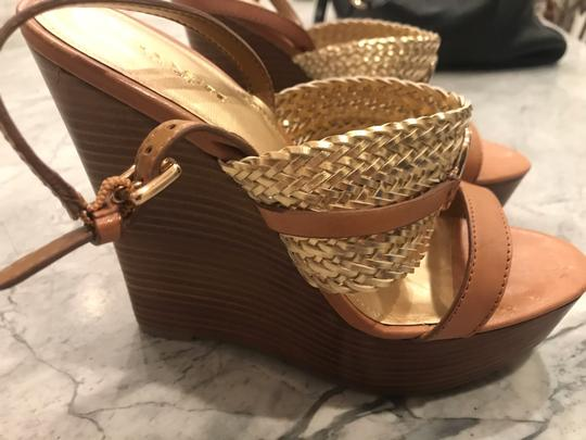 Coach Wedges Brown & Gold Wedges Image 5