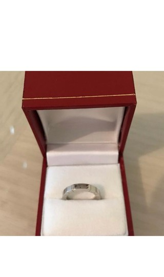 Cartier Auth Cartier 750 18K White Golg Wg Lanieres Ring Size 47 Us 4-4 1/2 EY955 Image 2