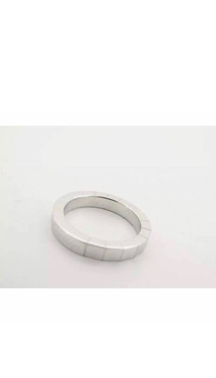 Cartier Auth Cartier 750 18K White Golg Wg Lanieres Ring Size 47 Us 4-4 1/2 EY955 Image 5