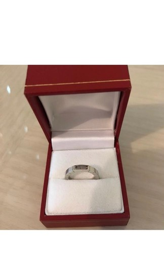Cartier Auth Cartier 750 18K White Golg Wg Lanieres Ring Size 47 Us 4-4 1/2 EY955 Image 7