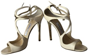 Jimmy Choo Goldheel Heels White Formal
