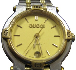 Gucci Women's Gucci Dress Watch Model 9000l Keeps Accurate Time Swiss Made