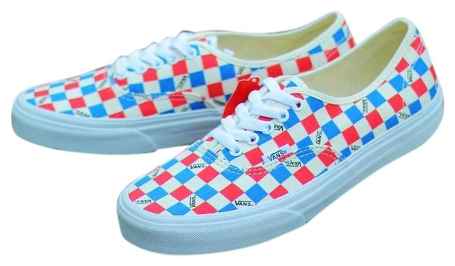 Item - Bmx Checkerboard Skate Red White Blue Sneakers Size US 8 Regular (M, B)