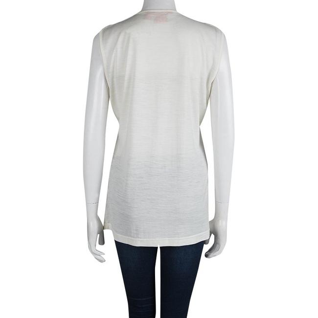 Tory Burch Ruffle Acrylic Nylon Wool Top White Image 2