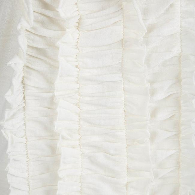 Tory Burch Ruffle Acrylic Nylon Wool Top White Image 3