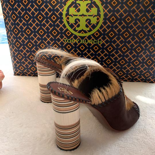Tory Burch brown and white Platforms Image 1