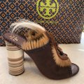 Tory Burch brown and white Platforms Image 10