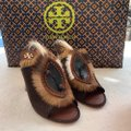 Tory Burch brown and white Platforms Image 11