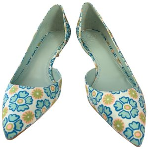 Tory Burch blue and green Pumps