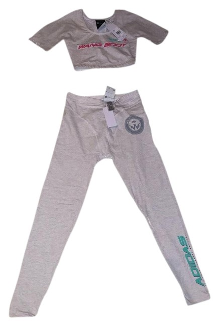 Item - Heather Grey 80s Legging and Top Activewear Sportswear Size 6 (S)