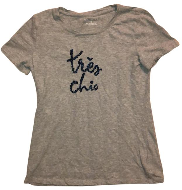 Item - Grey Tres Chic Sequined Tee Shirt Size 2 (XS)