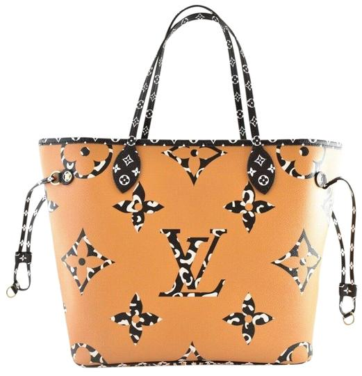 Preload https://img-static.tradesy.com/item/25857395/louis-vuitton-neverfull-mm-ivory-jungle-animal-giant-logo-black-beige-tote-handle-white-canvas-shoul-0-1-540-540.jpg