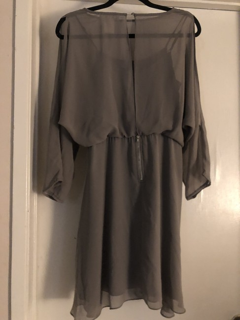 MM Couture Flowy Satin Longsleeve Cut-out Dress Image 1