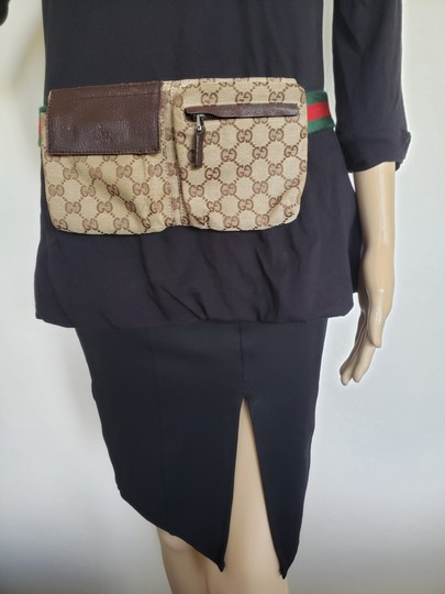 Gucci Beige brown GG web canvas Gucci belt bag Image 1