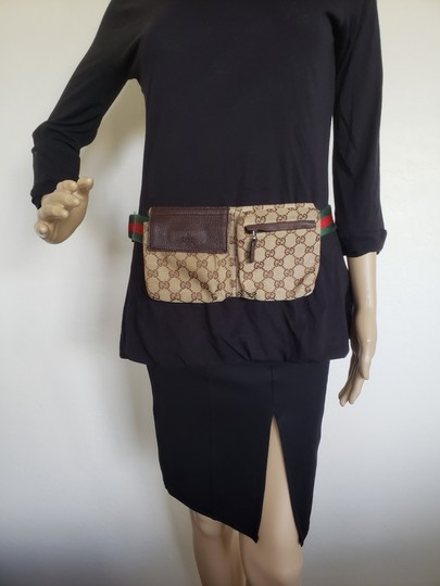 Gucci Beige brown GG web canvas Gucci belt bag Image 2