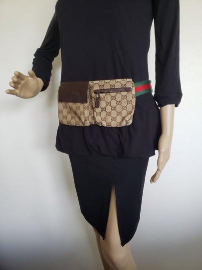 Gucci Beige brown GG web canvas Gucci belt bag Image 4