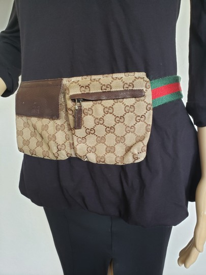 Gucci Beige brown GG web canvas Gucci belt bag Image 5