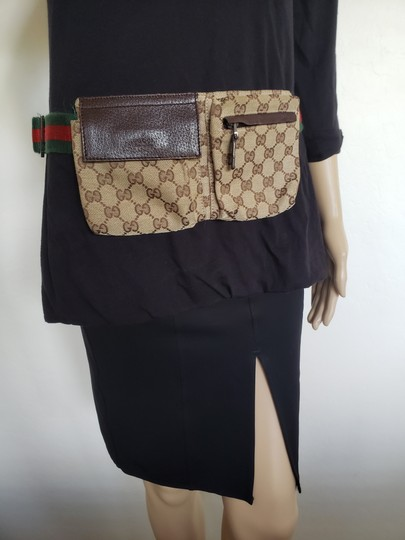 Gucci Beige brown GG web canvas Gucci belt bag Image 6