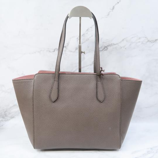 Gucci Swing Small Calfskin Tote in Taupe Image 1