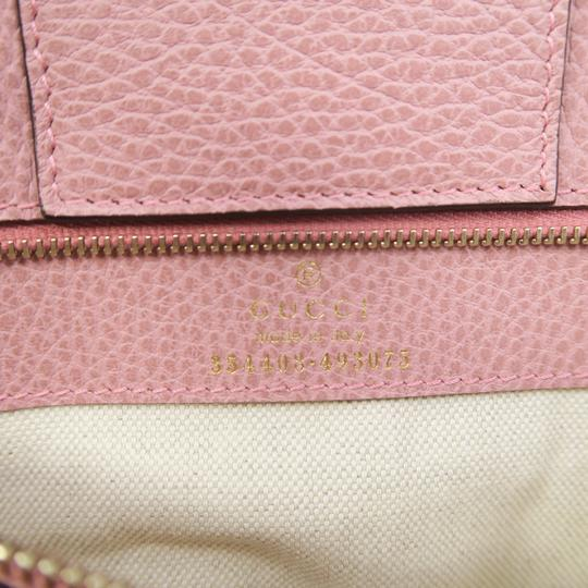 Gucci Swing Small Calfskin Tote in Taupe Image 10
