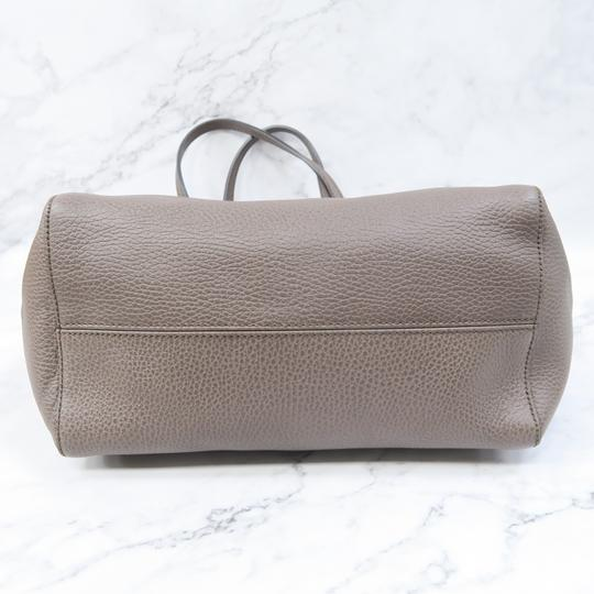 Gucci Swing Small Calfskin Tote in Taupe Image 2