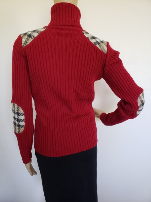 Burberry Nova Check Longsleeve Plaid Patchwork House Check Sweater Image 8